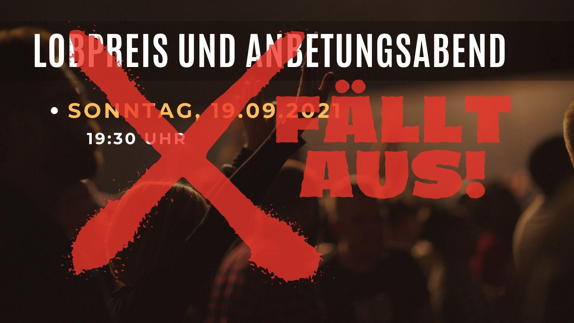 """Featured image for """"Lobpreis und Anbetungsabend fällt aus"""""""